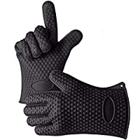 1 Pair Food Grade Heat Resistant Silicone Kitchen Barbecue Oven Glove Cooking BBQ Grill Glove Oven Mitt Baking Glove