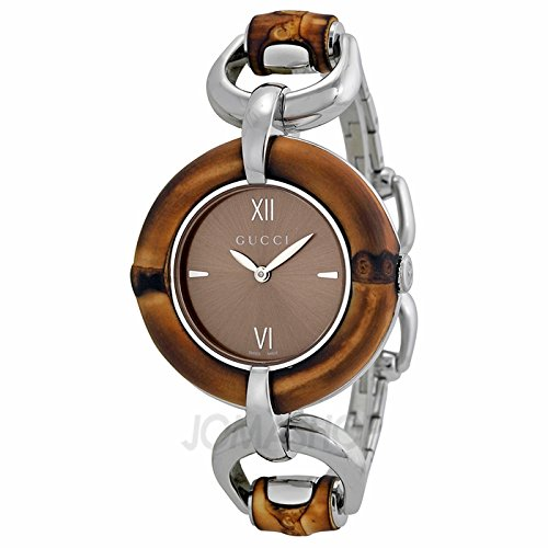 Gucci Gucci Bamboo Brown Dial Stainless Steel Ladies Watch YA132402