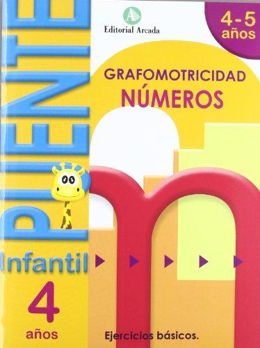 Puente. Números. Cuaderno De Grafomotricidad. E.I. 4 (Puente Infantil)