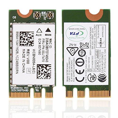 ASHATA 2.4GHz + 5GHz Tarjeta WiFi NGFF / M2,Adaptador de Red Inalámbrico para Lenovo/DELL / ASUS/Toshiba / Hasee/Acer,etc.(433 Mbps,802.11A / C.)