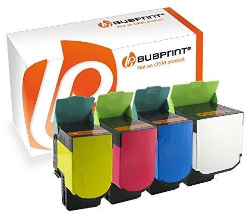 Bubprint 4 Toner kompatibel zu Lexmark CS410 für CS310N CS310DN CS410N CS410DN CS410DTN CS510DE CS510DTE