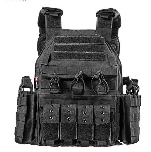 Outdoor Nylon Zug-Wear verstellbar Live CS Field Geräten spezielle Schutzweste, Schwarz