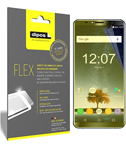 dipos I 3X Schutzfolie 100prozent passend für Oukitel K6 Folie (Vollständige Bildschirmabdeckung) Bildschirmschutzfolie