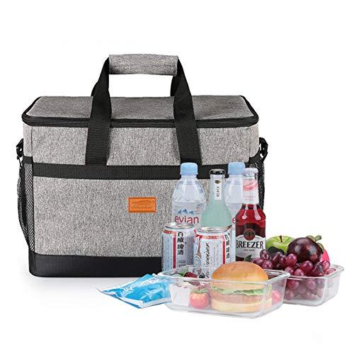 33L großer Kühler, Tasche Weiche isolierte Kühltasche für die Picknickfamilie mit hartem Futter, doppelseitige Kühltasche Camping/Barbecue/Familienaktivitäten im Freien -