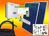 1500Watt Photovoltaikanlage für Eigenverbrauch Plug & Play Komplettset mit Montagematerial für Flachdach von bau-tech Solarenergie GmbH