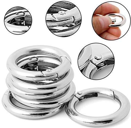 Unbekannt Simply The Best 44mm Durchmesser ~ Silber Rund Karabiner Clips ~ Rucksack Schlüssel Ring Kette Karabinerhaken Schnalle für Drinnen und draußen, Silber
