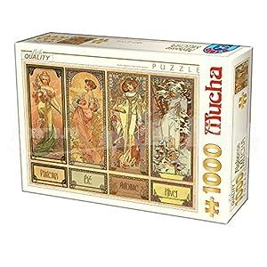 D-Toys 75901/ MU 12 - Puzzle (1000 Piezas), diseño de Alphonse Mucha Seasons