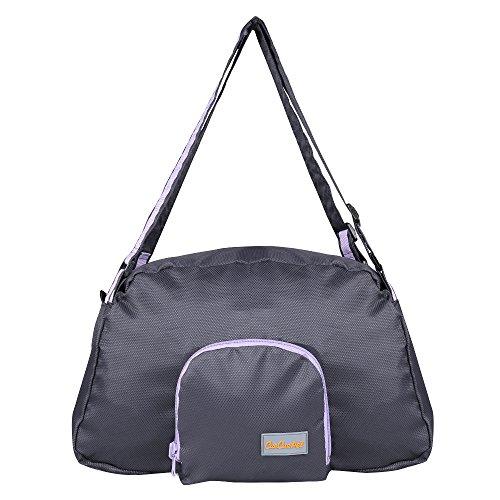 CueCue Haustier-Tragetasche, faltbar, erweiterbar, Schwarz mit violettem Rand -