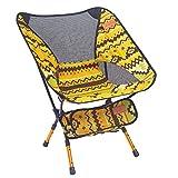Indischer Campingstuhl Super Light Garden Stuhl Klappbarer Angel Stuhl Heavy Duty 150 Kg Kompakt, Tragbarer Outdoor-Sitz Mit Tote Tasche,Yellow