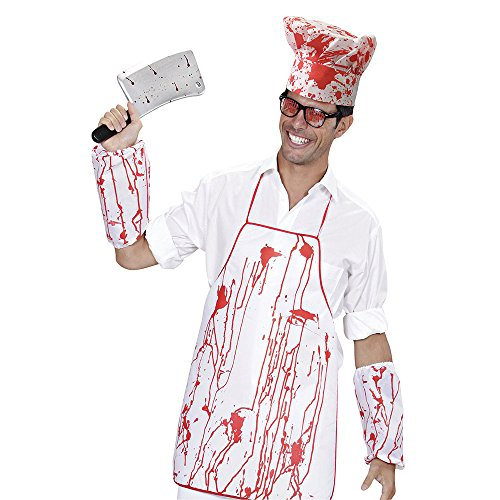 Bristol DS202 Novedad Chef Set Bloody Hat, Delantal y Manga, Hombre, Talla Única