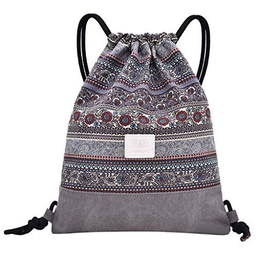 Clearance Kostüm Womens - Bobopai Women Lady Canvas String Drawstring Printing Backpack Fitness Bag Sports Bundle Pocket Beach Bag (I)