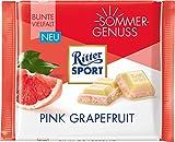 RITTER SPORT Pink Grapefruit (12 x 100 g), knackig weiße Schokolade mit Pink-Grapefruit-Füllung, Tafelschokolade, Sommersorte
