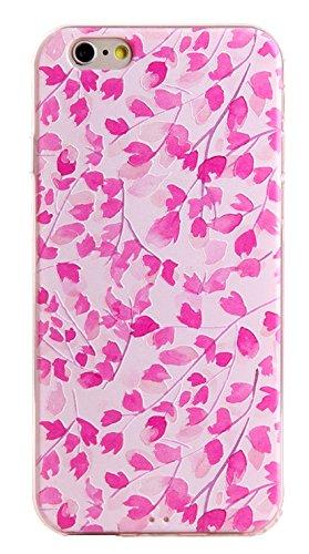 Voguecase® Pour Apple iPhone 6 Plus/6S Plus 5,5, TPU avec Absorption de Choc, Etui Silicone Souple, Légère / Ajustement Parfait Coque Shell Housse Cover pour Apple iPhone 6/6S 4,7 (ADVISORY)+ Gratuit  Maple Leaf Rose