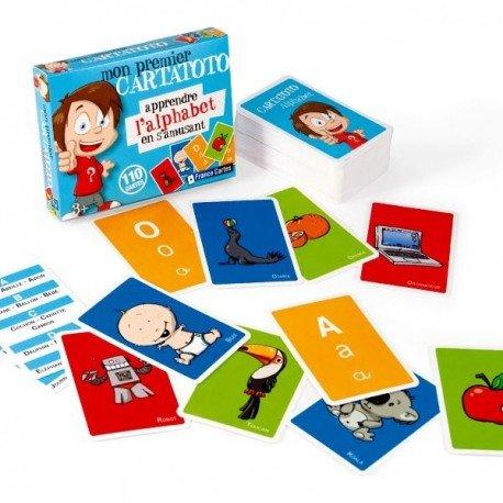 Cartatoto jeu de Cartes pour enfant éducatif Apprendre L'alphabet