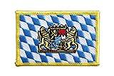 Flaggen Aufnäher Deutschland Bayern mit Löwe Fahne Patch