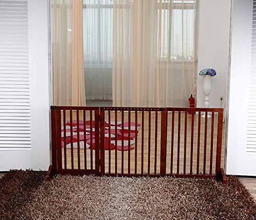 Valla extensible para mascotas, Puerta de entrada para mascotas independiente, Puerta de...