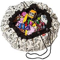 Preisvergleich für LANDOR Kinder Spielzeug Aufbewahrungstasche, Multifunktionale Spielzeug Aufbewahrungstasche Baumwolle Graffiti Spielzeug Aufbewahrungstasche Baby Krabbeln Mat Spieldecke Portable Quick Toys Organizer