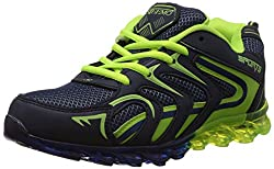 Steemo Men's Blue and Parrot Green Running Shoes - 6 UK/India (40 EU)(STM1025)