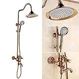 LQXZHS-Shower Shower Set Doccia Oro Rubinetto per Acqua Calda in Rame Spruzzatore Portatile Ascensore Termostato per Vasca Bagno Bagno Doccia Miscelatore