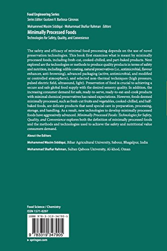 Minimally Processed Foods: Technologies for Safety, Quality, and Convenience (Food Engineering Series)