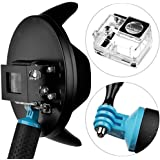 Tradico® 6''Dome Port Lens For GoPro Hero 3+ 4 W/Waterproof Case+ Handheld Floating