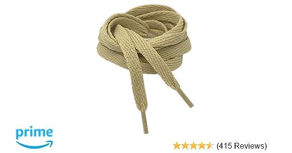 8d01fedc21790 Kilter Flat Trainer Shoelaces - Beige - 8mm X 90cm (1 Pair): Amazon.co.uk:  Shoes & Bags