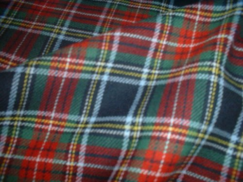 Blau/Rot/Grün, 100% gebürstete Baumwolle, mit Schottenmuster, weich, 150 cm (149.86 cm breit, Meterware