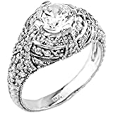 Little Treasures - 14 ct White Gold CZ Engagement Ring