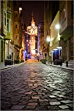 Poster 40 x 60 cm: The Famous Galata-Tower at Night
