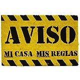koko doormats Felpudo con Diseño Aviso, PVC, Coco, 40 x 60 cm