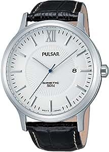 Pulsar men's Quartz Watch Analogue Display and Leather Strap PAR187X1
