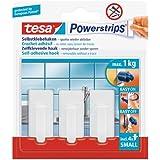 Tesa 57530-00013-00 Powerstrips 3 mini crochets classiques + 4 Mini Languettes Blanc