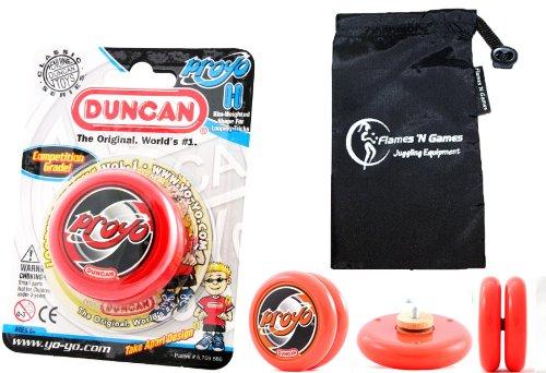 Duncan ProYo YoYo (Rot) Ideal Yo Yo für Anfänger + Stoff Reisetasche! Große YoYo für Kinder und Erwachsene! (Yo Duncan Proyo Yo)