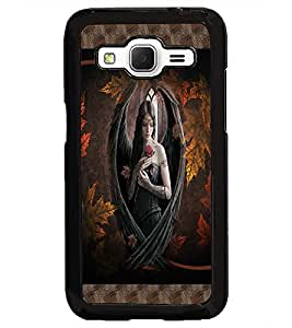 PrintDhaba Beautiful Girl D-4078 Back Case Cover for SAMSUNG GALAXY CORE PRIME (Multi-Coloured)