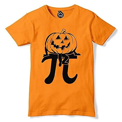 Halloween T Shirt Pumpkin Pie T Shirt Halloween Costume (9-11 Years, Orange)