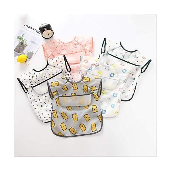 WPPKED Niños impermeable bib sin esposa impermeable con capucha bebé manga cortaimpermeable ropa de comida impermeable M… 1