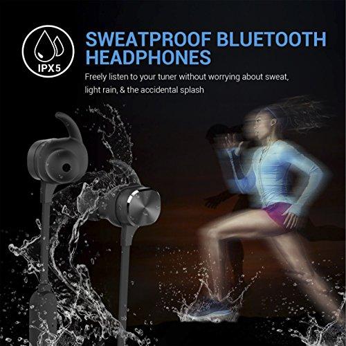 Bluetooth Kopfhörer, MixcMax IPX5 Wasserdichte In Ear Wireless Ohrhörer mit Magnetischer Verbindung, Sport Kopfhörer Eingebautem Mic, HiFi Sound, Noise Cancelling für iPhone, iPad, Android, Tablets, Laptop - Bild 8