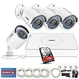 ANNKE Überwachungskamera Set 1080P Full HD 8 Kanal Poe NVR 4X Kameras 1.3MP Videoüberwachung Außen Innen Wasserdichte IP67 Outdoor Kamera Nachtsicht Bewegungsmelder mit Festplatte 1TB