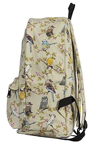 Big Handbag Shop, zaino da viaggio grande, con zip e Tasche, unisex, leggero, fantasie varie Rose - Pink