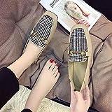 HRCxue Pumps Einzelne Damen-Single-Schuhe mit Wilderbsen-Schuhen für EIN lässiges und bequemes, cremefarbenes 36