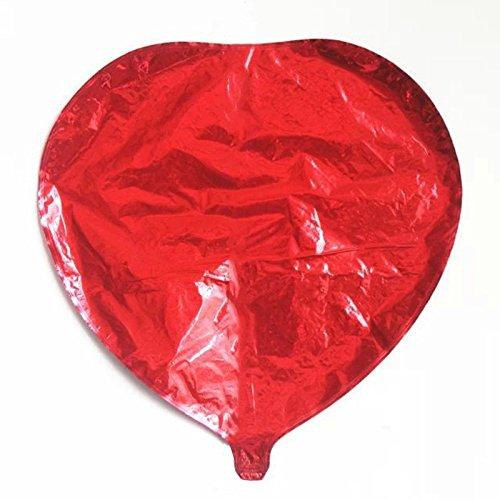 Hrph Los globos rojos en forma de corazón