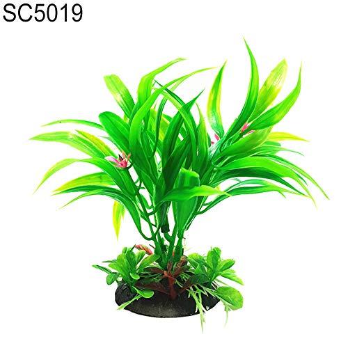 TLfyajJ Aquarium künstlicher Kleiner Bambus verlässt Landschaftsdekor Verzierung/gut gemacht und Leuchtend gefärbt, Sieht realistisch und schön aus Grün SC5019 -