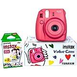 Fuji Instax Mini 8 Value Cam Instant Camera - Combo (Camera + 20 Instant Films) (Raspberry)