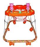 #10: Kotak Sales Square Baby Walker Musical Stroller Cartoon Design 6 Wheels Leg Movement Drive Swing Quick Walking Playtime Activities (6+ Months) – RED