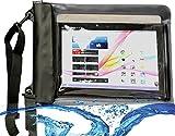 Navitech schwarzes Wasserfestes Case, Wasserfestes Cover für 10 Zoll Tablets Inklusive das ARCHOS 101c Copper