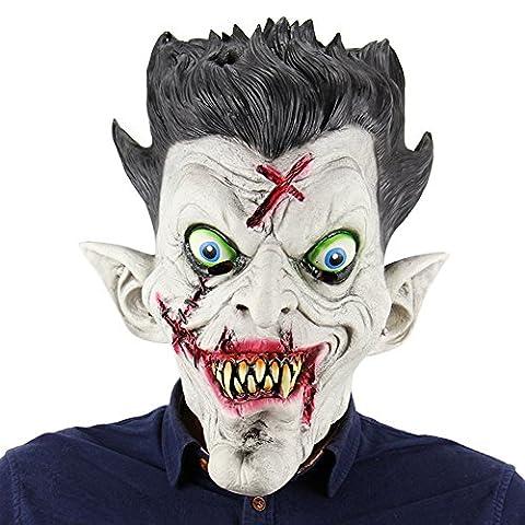 Decdeal Halloween Maske Zombie Maske Horrormaske für Halloween Weihnachten Kostüm Party (Halloween Kostüme Arts And Crafts)