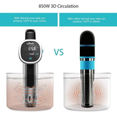 Wancle Sous Vide Precision Cooker Immersion Circulator , Black