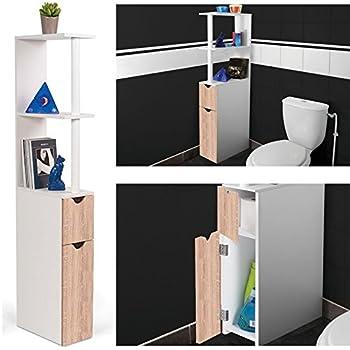 probache meuble wc tagre bois gain de place pour toilette 2 portes htre