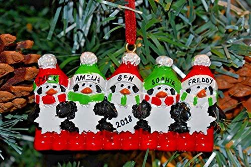 B-creative, palle decorative per albero di natale, personalizzabili, 3,4, 5 pinguini natalizi