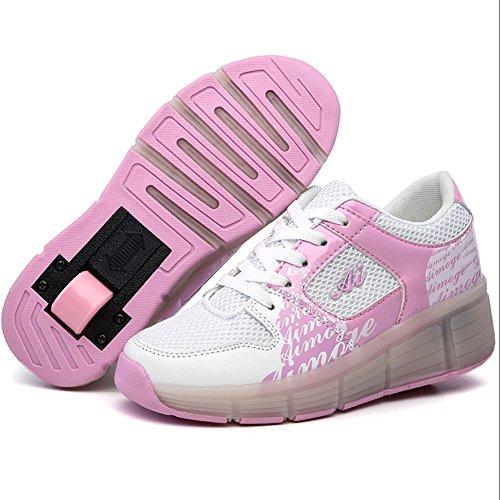 Schuhe Mit Rollen Led Leuchtende Wheelies Kinderschuhe Lichter Rädern Sportschuhe Mädchen Jungs Pink